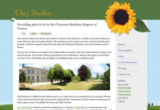 Screenshot of Chez Bardon home page