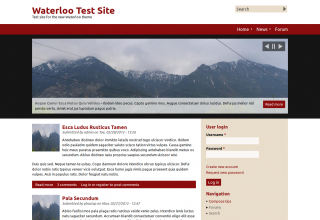 Screenshot of Waterloo theme for Drupal